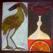 Bird Cups Orange