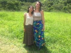 Luiza and I on our last day.