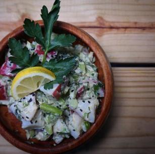 Lemon Tahini potato Salad, Photo by @thebaltimorefoodie