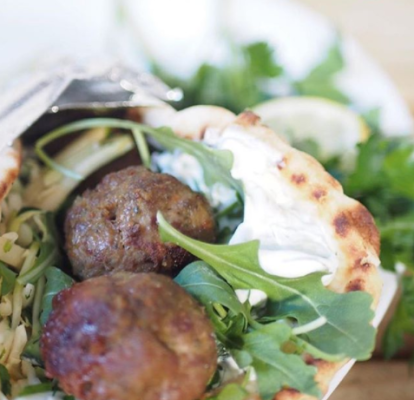 Lamb Spring Pita, Photo by @pandheats