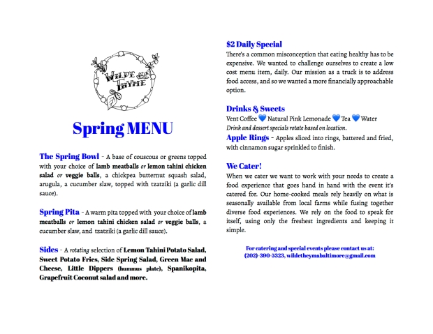 To-go menu Spring - Google Docs
