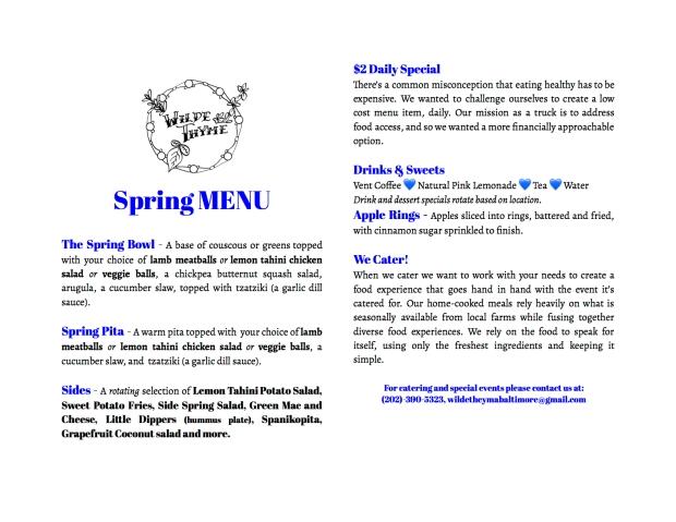 To-go menu Spring - Google Docs